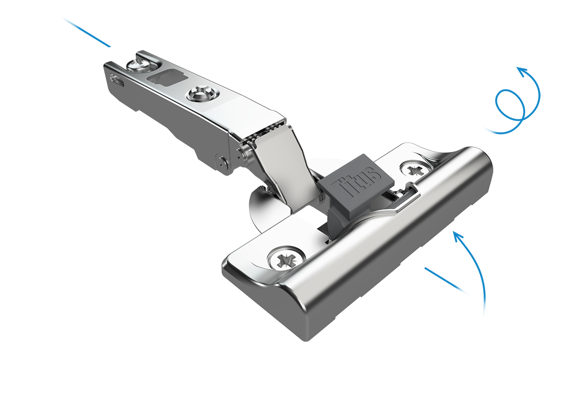 concealed hinge, soft close hinge, titus, titus hardware,cabinet hinge, hinge for cabinet door, slow close hinge,hinge for different size of doors